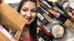 huge affordable makeup haul india colorbar sugar cosmetics haul faces canada makeup revolution