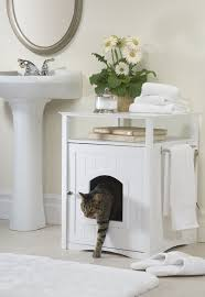 Wooden Litter Box Cabinets Amazoncom Merry Pet Cat Washroom Night Stand Pet House Cat