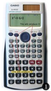 step 1 how to input the equation in your calculator