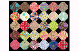 Tips and Techniques on How to Design a Quilt & Surround Floral Snowball Quilt Blocks with Black to Sew a Lovely Quilt Adamdwight.com