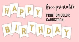 free happy birthday template happy birthday banner printable template paper trail design