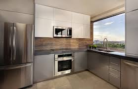 Contemporary Kitchen Appliances Bay Window Glossy Kitchen Island