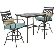 hanover montclair 3 piece metal outdoor