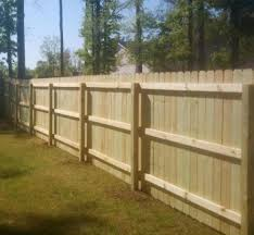 This is the inside of a standard wood privacy fence.