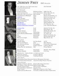 Actors Resume Actors Resume Template Therpgmovie 58