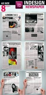 Free Indesign Newspaper Template Tabloid Template Best Newspaper Templates Free Download