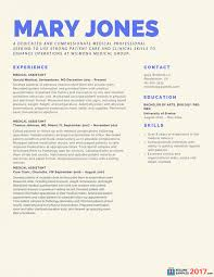 Template Resume Of Medical Assistant Skills Cv Template Sample