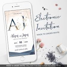 Electronic Save The Date With Monogram Electronic