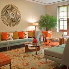 Orange Living Room Design