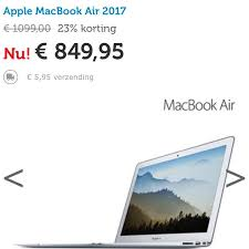 korting op macbook air