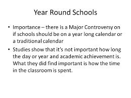 year round school pros cons ppt 2 year