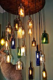 recycled bottle chandelier en for stylish house whiskey bottle chanlier remol make a recycled plastic bottle chandelier
