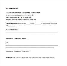 Legal Agreement Form Template Installment Sale Agreement Template ...