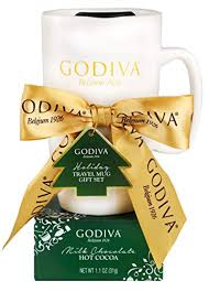 Gift wrapped and embellished with a red and gold bow. Upc 732346464511 Thoughtfully Gifts Godiva Mug Gift Set Includes Godiva Holiday Travel Mug With Lid And Milk Chocolate Godiva Hot Chocolate Mix Barcode Index