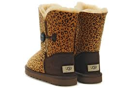 cheap women ugg bailey button leopard boots in brown 5803