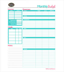 Monthly Budget Planning 25 Monthly Budget Templates Word Pdf Excel Free
