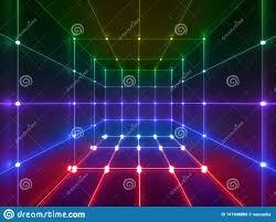Neon Light Spectrum 3d Render Glowing Lines Neon Lights Abstract Psychedelic