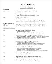Cv Template Doctor Sample For Medical Students Physicians