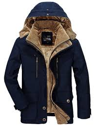 men winter business casual multi pocket hooded coat