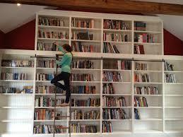 ladder shelves ikea 20310 long narrow bookshelf lighting ideas home library  bookcases furniture brucall com ...