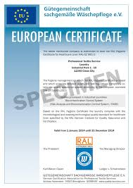 vouching for textile hygiene press information the hygiene management on which the ral hygiene certificate is based and which underlies detailed quality and test regulations completely conotvers the
