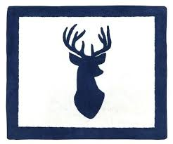 deer area rug sweet designs woodland deer hand tufted navy white area rug reviews area rugs