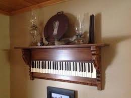 repurposed furniture ideas. Add Old Keyboard Or Piano Keys To A Hanging Shelf...these Are The Repurposed Furniture Ideas