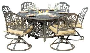 patio dining set with fire pit 6 person cast aluminum patio dining set with fire pit patio dining set with fire pit fire pit dining tables