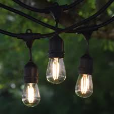 48 led outdoor string lights 48 commercial grade string light cord with suspended sockets