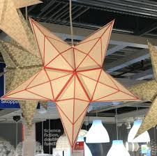 details about ikea strala red white star lamp shade pendant light fixture 24 60cm exclusive