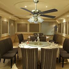 Enchanting Dining Room With Ceiling Fan Also Decorative Fans For - Dining room lighting trends