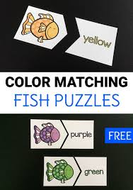 It also creates a natural curiosity in your kid, making him explore more and more. Color Matching Fish Puzzles