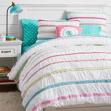 rainbow ribbon duvet cover sham pbteen