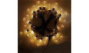 globe string lights led warm white le lights 110v