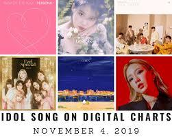Music Chart Idol Songs On Korean Digital Charts November