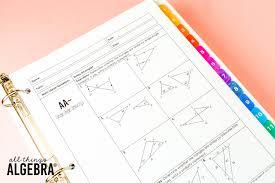 Honors geometry vintage high school: 4 Geometry Curriculum All Things Algebra