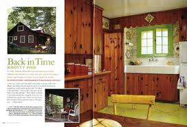 Knotty Pine Kitchen And More In This Months Old House Interiors - 1950s house interior