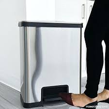 stainless steel kitchen trash can. Trash Can Deodorizer Halo Gallon Kitchen Stainless Steel Step With Replaceable