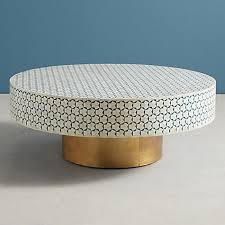 Shop wayfair for all the best drum coffee tables. Maaya Brass Bone Inlay Round Drum Coffee Table Blue Daisy