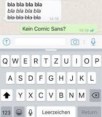 WhatsApp : Fett, kursiv und durchgestrichen schreiben!