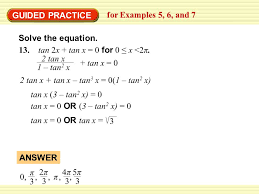 guided practice for examples 5 6 and 7 solve the equation 13