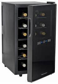 wine enthusiast wine refrigerator. Brilliant Wine Wine Enthusiast  18Bottle Refrigerator Black Front_Standard With S
