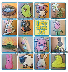i had so much fun coming up with easter cheek art designs for my march e newsletter i just had to share all of these how to with you