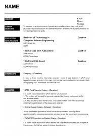 Resume Format Of Fresher Resume Templates Design For Job Seeker