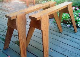 sawhorse. it seems i never have enough sawhorses. use them continually around my home and inside the wood shop, they are indispensable for supporting workpieces sawhorse