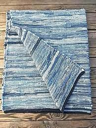 dia denim rag rug diamond indigo woven cotton denim rag rug make