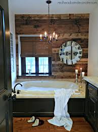diy wood planked wall redhead can