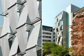 office facades. Friedrichstrasse 40 Office Building, Petersen Architekten, Berlin, Shade Screen, High Performance Facade Facades N