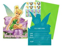 Tinkerbell Invitation Tinkerbell Disney Fairies Party Supplies Nz Sweet Pea