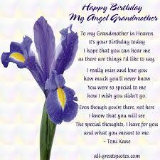Happy Birthday My Angel Grandmother In Loving Memory | RIP ... via Relatably.com